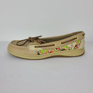 Sperry  Top-Sider Tan Flower Print Loafer Size 8